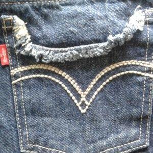 Levi's Bottoms - Levi's shorts sz 14 reg distressed cuffs